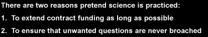 Two Reason to Pretend at Science