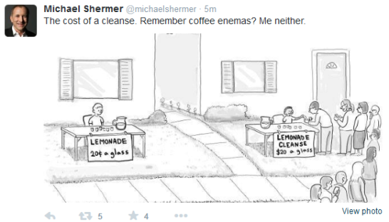 michael shermers of the world think your suffering is fictional comedy