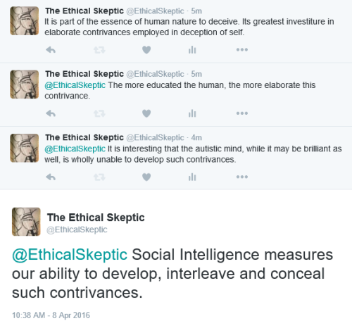 Social intelligence and deception contrivances